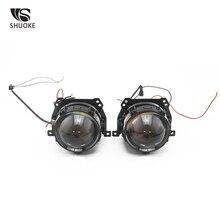 SHUOKE New Mini Bi-LED Projector Lens Light 12V 3A 36W 6000K 5500LM 50000h Life 2 PCS Bi Headlight Free Shipping