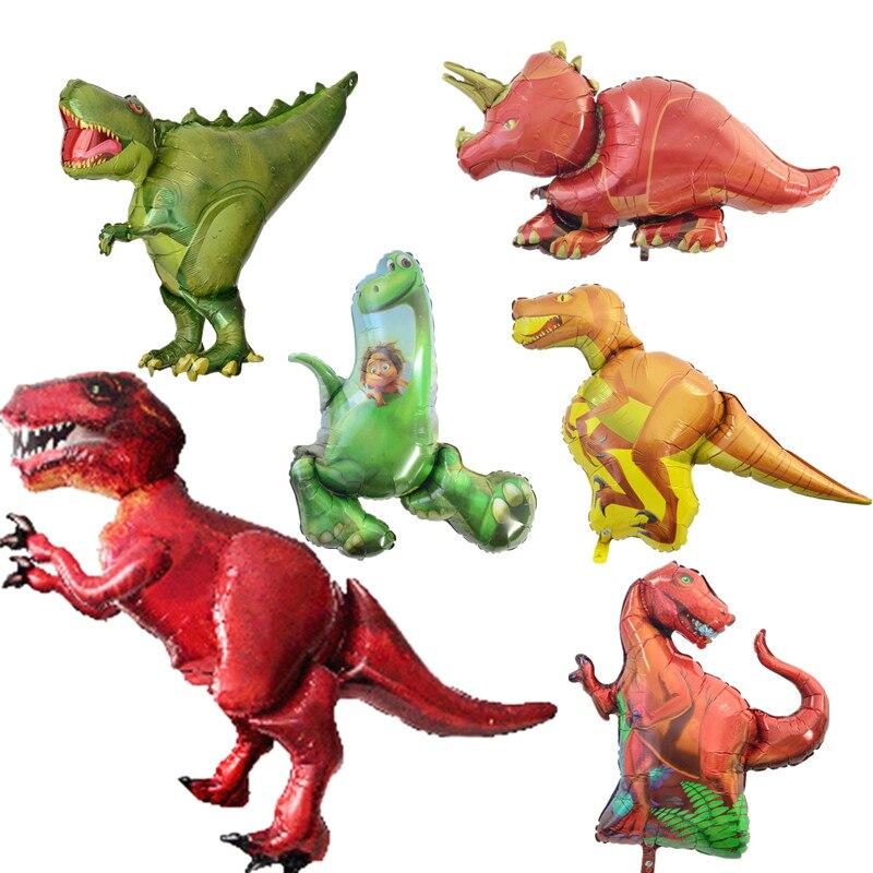 KAMMIZAD большой динозавр фольгированные шары мальчика день рождения украшения шаре дети 1st подарок на день рождения photo booth air balons