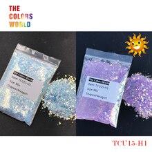 TCT-253 UV Glitter ultraviolet Light Mix Hexagon Shape Nails