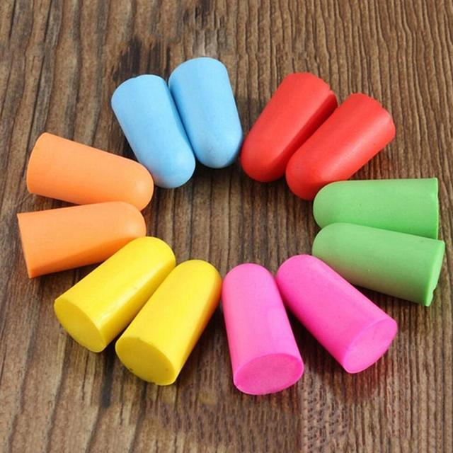 Bouchons doreilles de confort, 10 paires, bouchons doreilles en mousse pour réduction du bruit, protection contre le bruit et le sommeil couleur livraison aléatoire