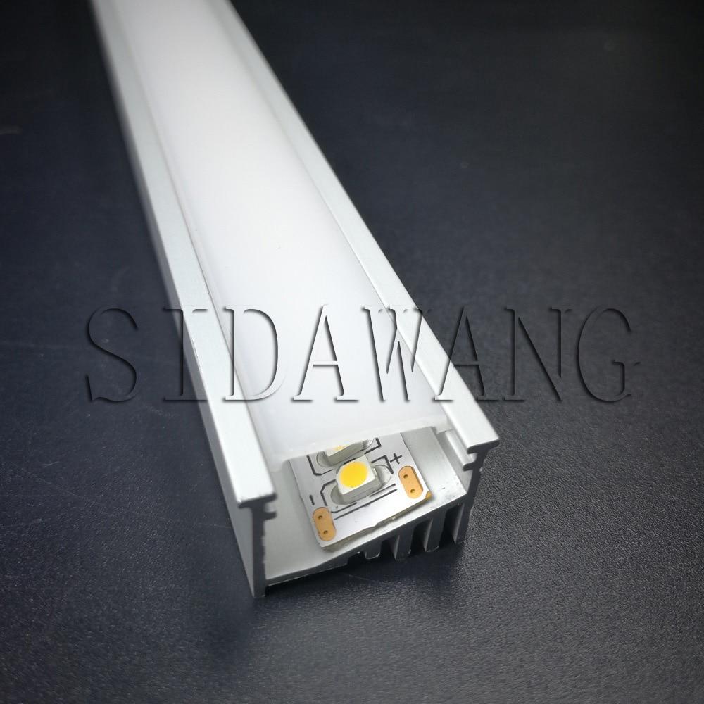 2meter piece Tea cup Aluminum led strip profile with heat sink Aluminum led channels with heat