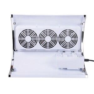 Image 4 - ماكينة تنظيف وتفريغ الأظافر من 3 مراوح قوية لشفط الغبار حجم كبير منخفض صاخب للأظافر