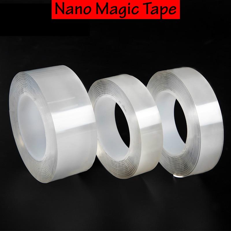 1 m 3 m 5 m imperméable Double face adhésif Nano bande amovible autocollant magique forte bande intérieure extérieure ménage outil