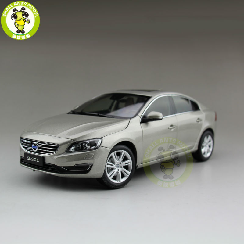 1 18 Volvo S60 S60L T5 Diecast Model Car Gray Seashell Color