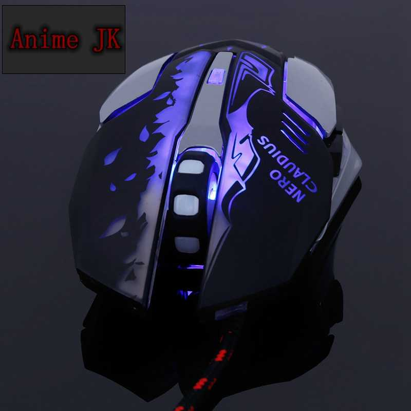 Anime JK Fate FGO Saber Nero Claudius Cosplay Computer LED Lighting Wired  Mouse Adjustable For Game Players Pro Gamer e-sports
