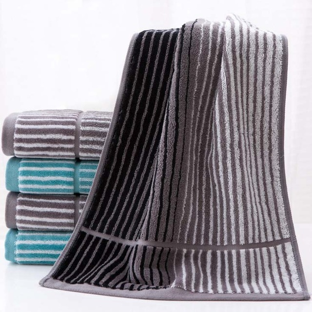 2 Pieces Lot 100 Cotton Striped Hand Towel Face Towels Bathroom For