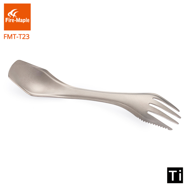 Fire Maple Three In One Titanium Outdoor Lightweight Portable Climbing Camping Trip Travel Fork Cutlery Spork FMT-T23