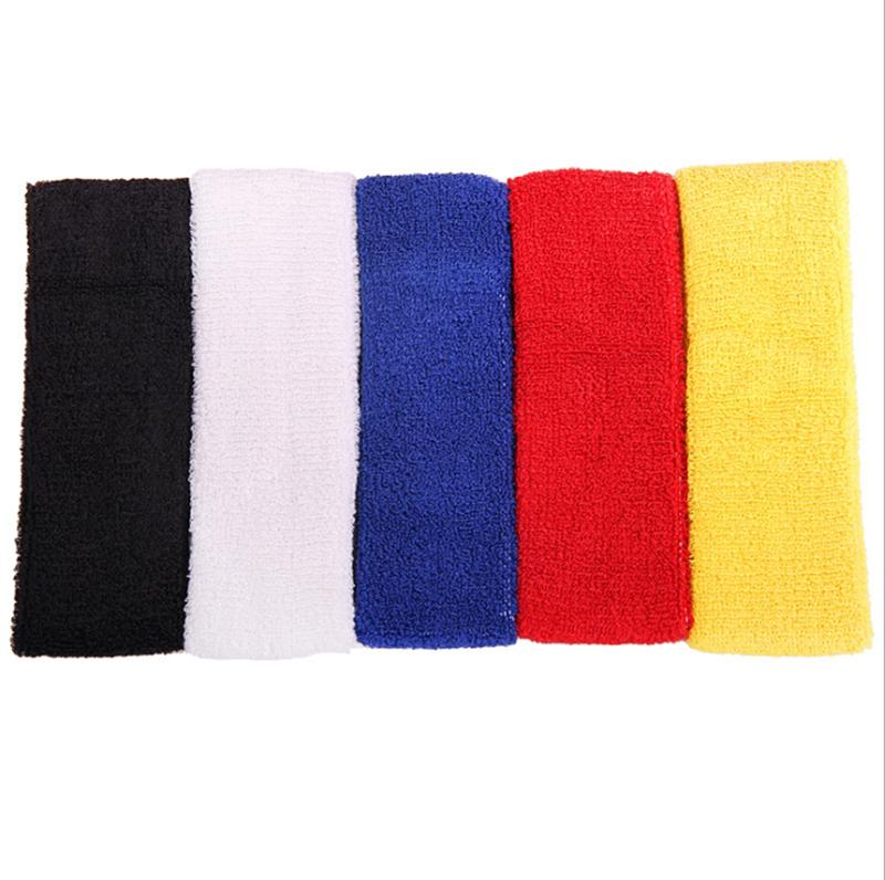 font b Fitness b font Outdoor Sports Sweatbands Forehead Head Hair Sweat Band Elastic Terry