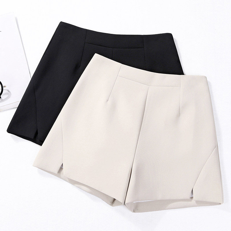 Short Pants Women Summer Elegant Office Lady High Waist Casual Suit Shorts New Arrival FashionTrend Wide Leg Shorts  DS50606