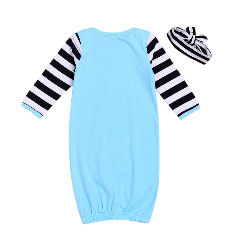 Pink Blue Infant Baby Boys Girls Rompers Cotton Sleepy Bags + Headband Infant 2018 Newborn Gift Cotton Sleeping Bag 2pcs
