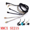 SE215 Chapado En Oro Original Auricular 2 Cable de color negro y plata para Shure SE535 SE425 SE315 SE846 MMCX
