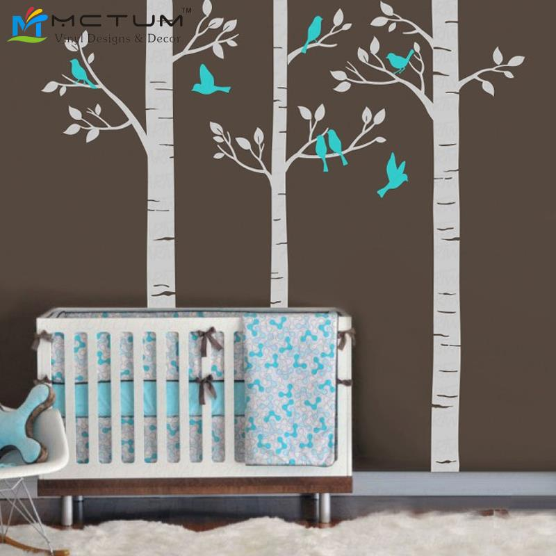 Tree wall decal tree wall sticker nursery wall decal for Decoration murale wish