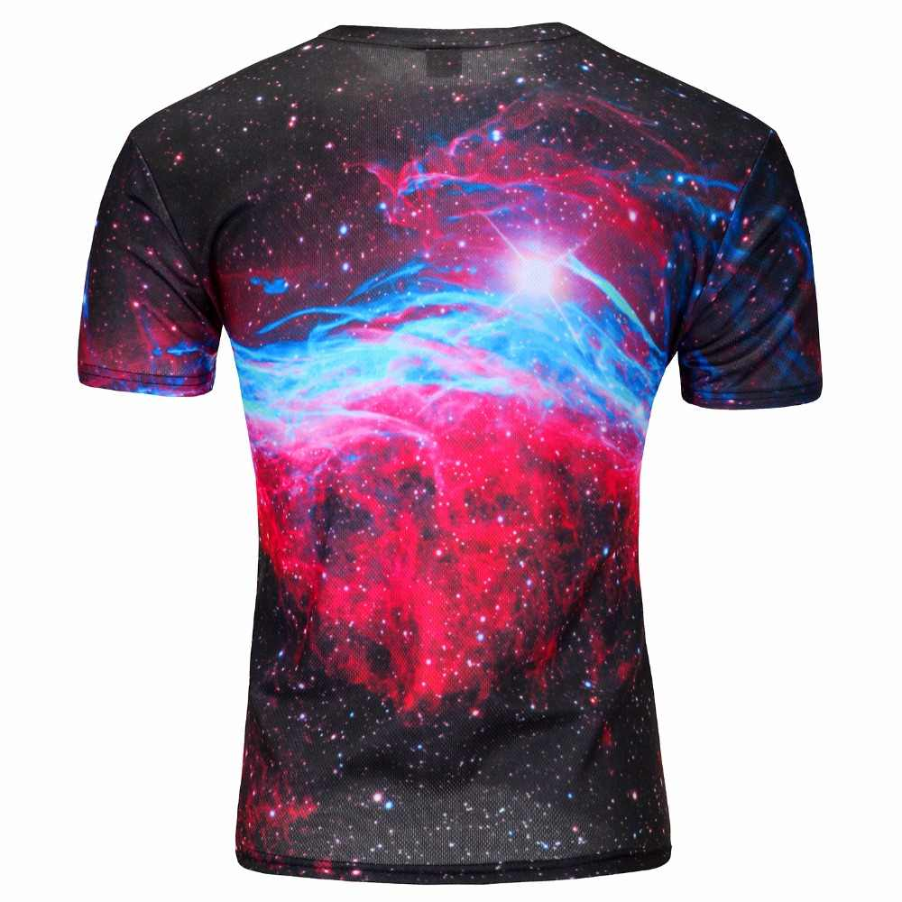 Лидер продаж 2019New забавная 3d Футболка мужская Свободная уличная футболка мужские топы Футболка Пицца Кошка/клоун/thinkers 3D футболка с коротким рукавом