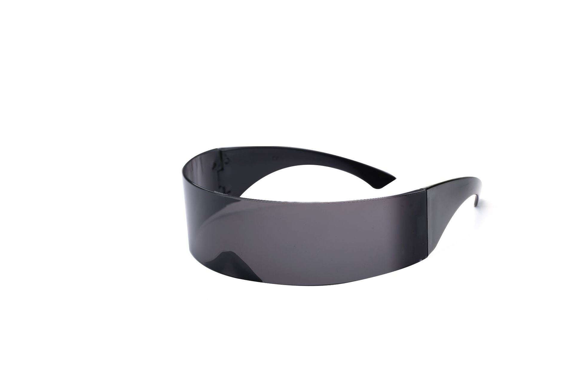 416e6da9ca MINCL  Ladies Mens Black Frame Wrap Sunglasses One Piece Shades Flat ...