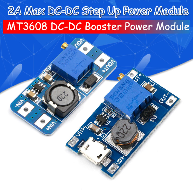 5PCS MT3608 DC-DC Step Up Converter Booster Power Supply Module Boost Step-up Board MAX output 28V 2A For Arduino5PCS MT3608 DC-DC Step Up Converter Booster Power Supply Module Boost Step-up Board MAX output 28V 2A For Arduino