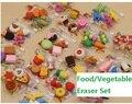 New Fashion Simulation eraser Food/Vegetable/Cake/ Tool Biscuits Eraser Set/Office&Study Rubber Eraser/Special children Gifts