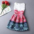 Estilo Rojo atractivo de la Impresión Floral de Las Mujeres Vestido de Verano Vestidos de Partido Sin Mangas Vestidos de Verano Más Tamaño Túnica Vestidos de Festa Robe 10341