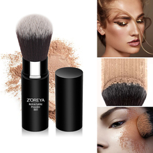 ZOREYA cosmetic brush tool classic black handle with white hair face makeup portable Retractable blush powder ZR005