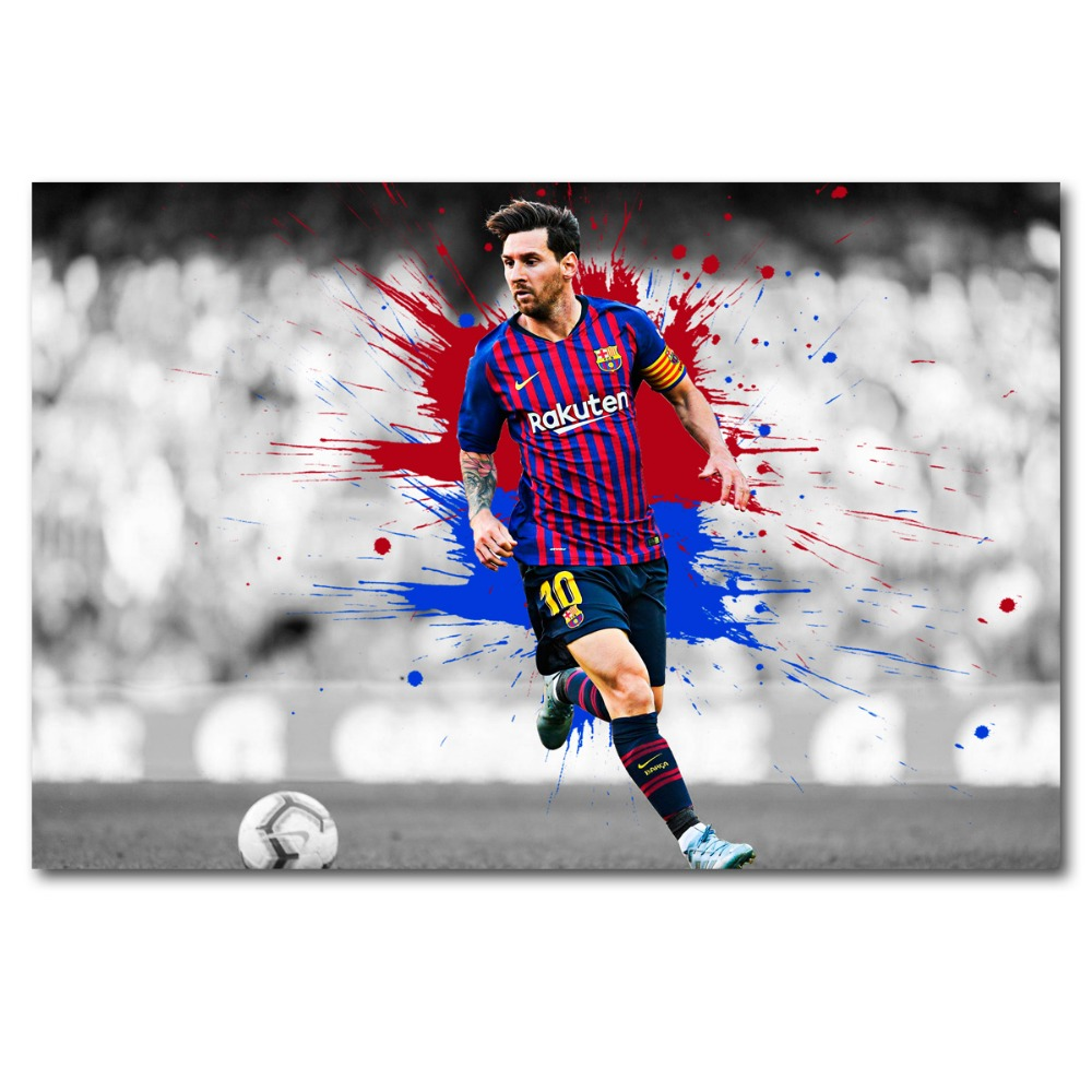 NEW FOOTBALL LIONEL MESSI BARCELONA  PHOTO PRINT ON FRAMED CANVAS WALL ART DECOR