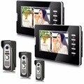 "7"" LCD Indoor  Monitor Alloy 3V2 Wired Intercom Video Door Phone"