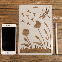 Mix 24pcs/set B5 DIY Craft Layering Stencils for Painting Scrapbooking Stamp Big Size Embossing PP Card Template For Fabric/Wall