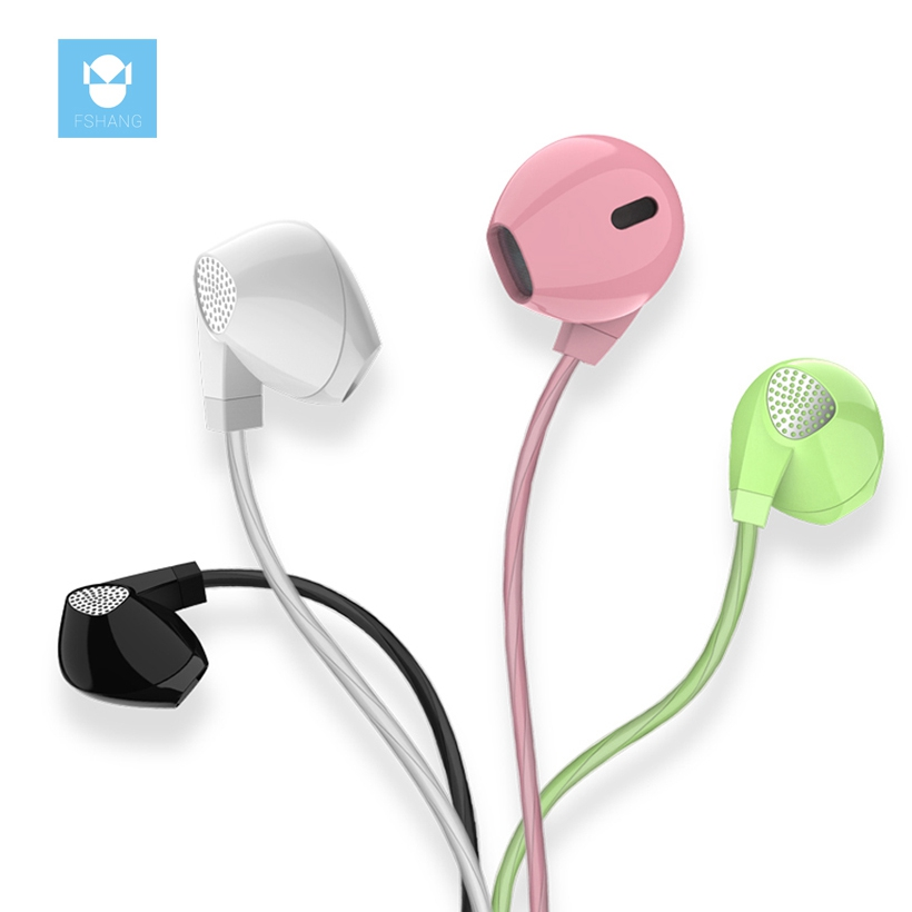 FSHANG Stereo Bass In-ear Earphone Super Clear Earphone Noise isolating Earbud Headset For iphone 6 Meizu Xiaomi MP3 PC with mic uiisii u2 stereo bass in ear earphone super clear earphone noise isolating earbud headset for iphone 6 meizu xiaomi mp3 pc