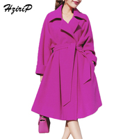 HziriP 2017 Women Winter Causal Coats Jackets Warm Cotton Padded Blends Solid Oversized High Quality Long Coat Manteau Femme