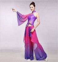 ancient chinese costume stage performance clothing folk dress hanfu women stage costume yangko dance costumes