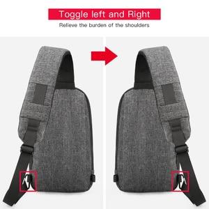 Image 4 - Kingsons 가슴 가방 단일 어깨 백 팩 크로스 바디 가방 캐주얼 메신저 짧은 여행을위한 작은 가방