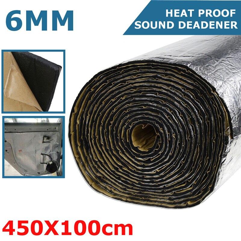 6mm voiture Van isolation bruit insonorisant capot isolation thermique 100 cm x 450 cm caoutchouc mousse insonorisant insonorisant coton
