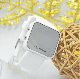 Led electronic watch student watch lovers table fashion silica gel watch candy color jelly table