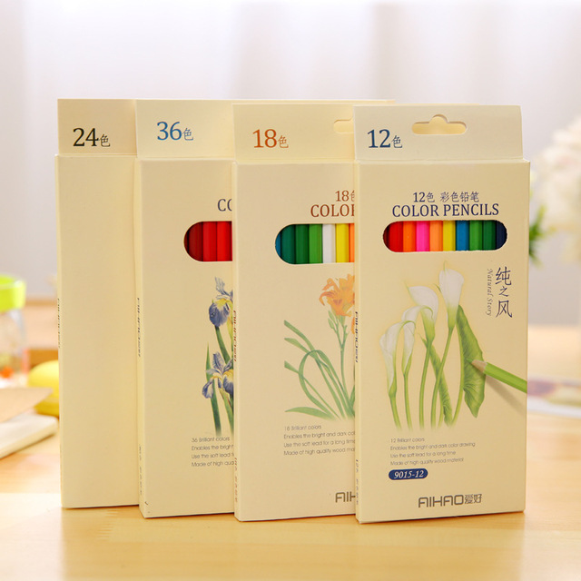 High-quality water-soluble watercolor pencils colored pencils 12 18 24 36 48 colors colored pencils lapices de colores lapis