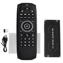 L8STAR G7 2.4GHz Smart Air souris anglais russe clavier à distance avec batterie sans fil Mini contrôle universel pour TV BOX H96 G30