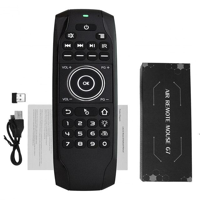 L8STAR G7 2.4GHz inteligentna mysz powietrzna angielska rosyjska klawiatura zdalna z baterią bezprzewodowa Mini uniwersalna kontrola do telewizora H96 G30