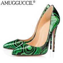 2019 New Plus Big Size 35-47 Green Fashion Sexy High Heel Party Wedding Spring Summer Ladies Shoes Women Pumps D1254 2019 new plus big size 37 47 black brown green blue red pink fashion sexy high heel spring summer lady shoes women pumps d1245