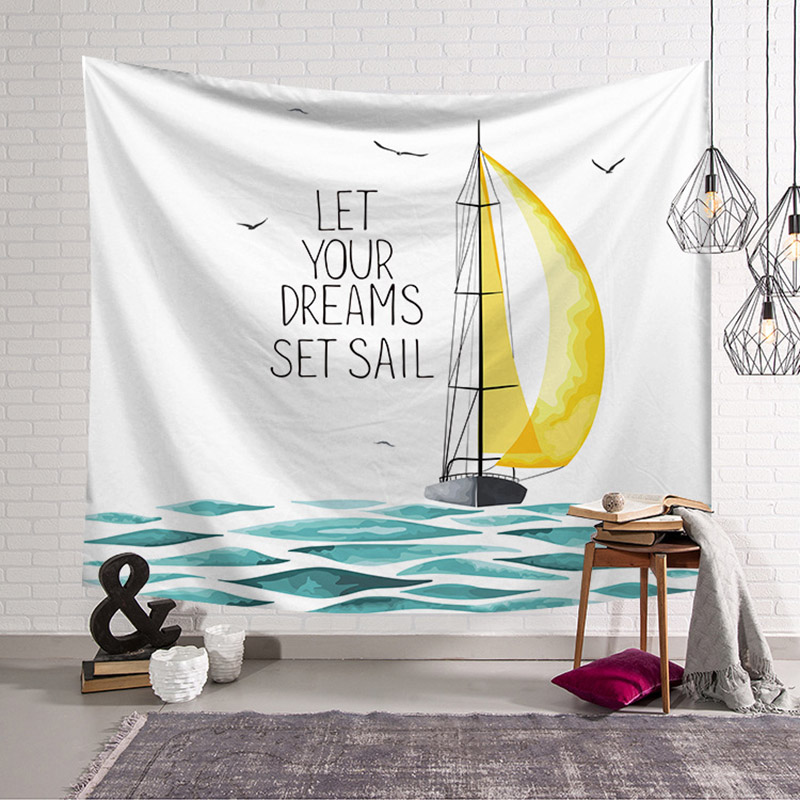 Beach Theme Wall Decor Tapestry