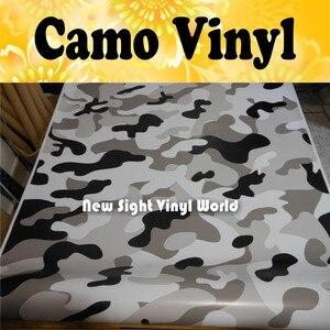 Высокое качество Arctic Camo обертывание Arctic Camouflage виниловая пленка без пузырьков для упаковки автомобиля Размер: 1,50*30 м/рулон
