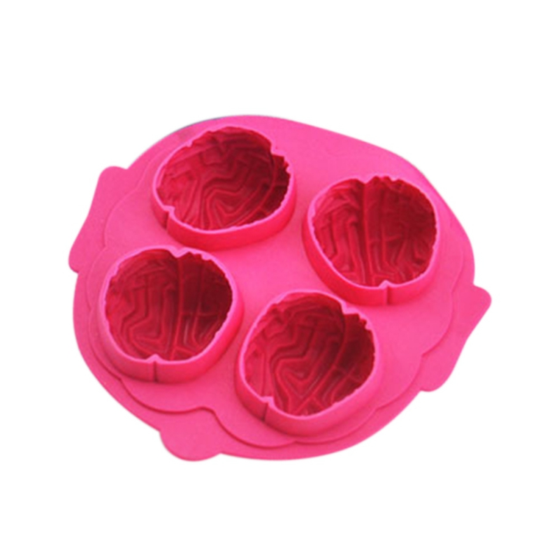 Brain Shape Silicone Ice Cream Tools Freeze Ice Cream Cubes Ice Ball Maker Diy Fondant Cake Chocolate Soap Mold 2019 NEW in Ice Cream Tubs from Home Garden