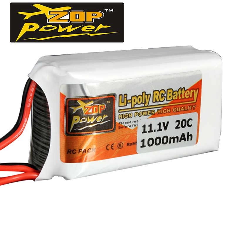 2018 новейший высококачественный перезаряжаемый ZOP power 3 S 11,1 V 1000 MAH 20C Lipo battery JST Plug Off-Цена для квадрокоптера вертолета