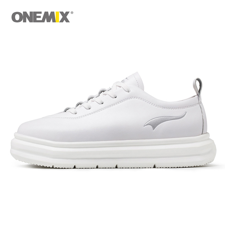 Onemix sports shoes for women breathable outdoor athletic shoe micro fabric leather light female shoes for