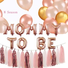 8Season Mommy To Be Foil Balloon Banner Blue Pink Confetti Chinese Balloons Its A Boy Girl Baby shower Party Supplies