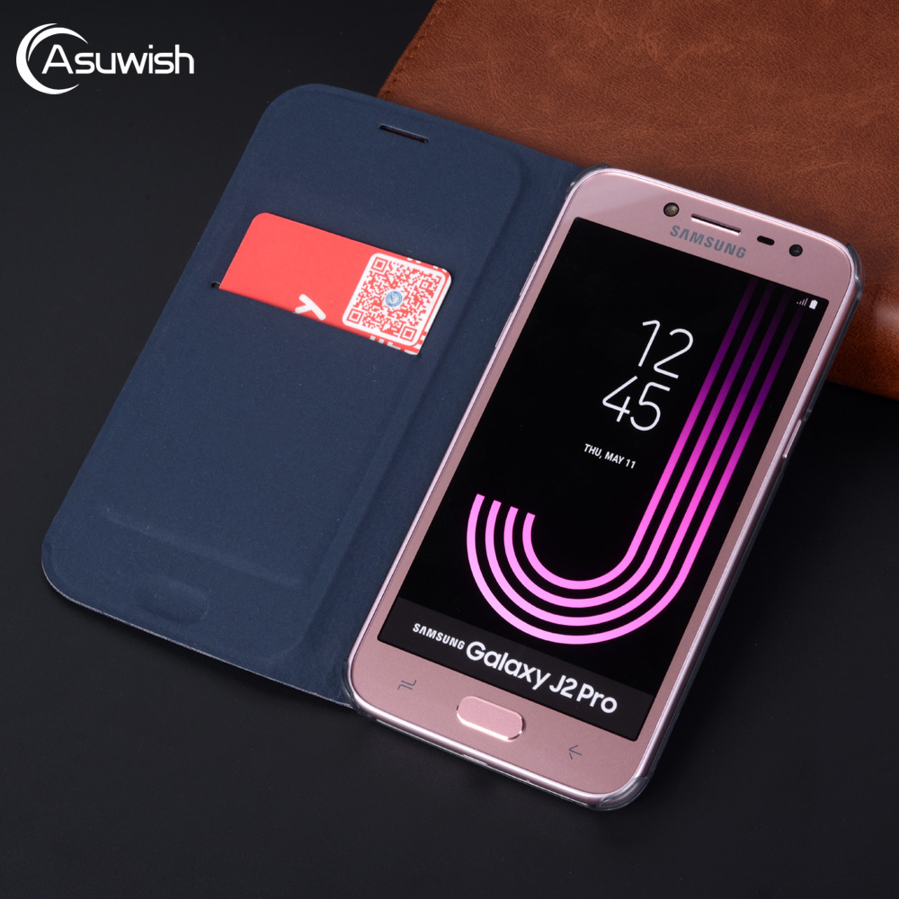 Flip Cover Leather Phone Case For <font><b>Samsung</b></font> <font><b>Galaxy</b></font> <font><b>J2</b></font> Pro <font><b>J2</b></font> <font><b>2018</b></font> J22018 GalaxyJ2 J 2 J2pro <font><b>SM</b></font> <font><b>J250F</b></font> J250 Slim Card Wallet Case image