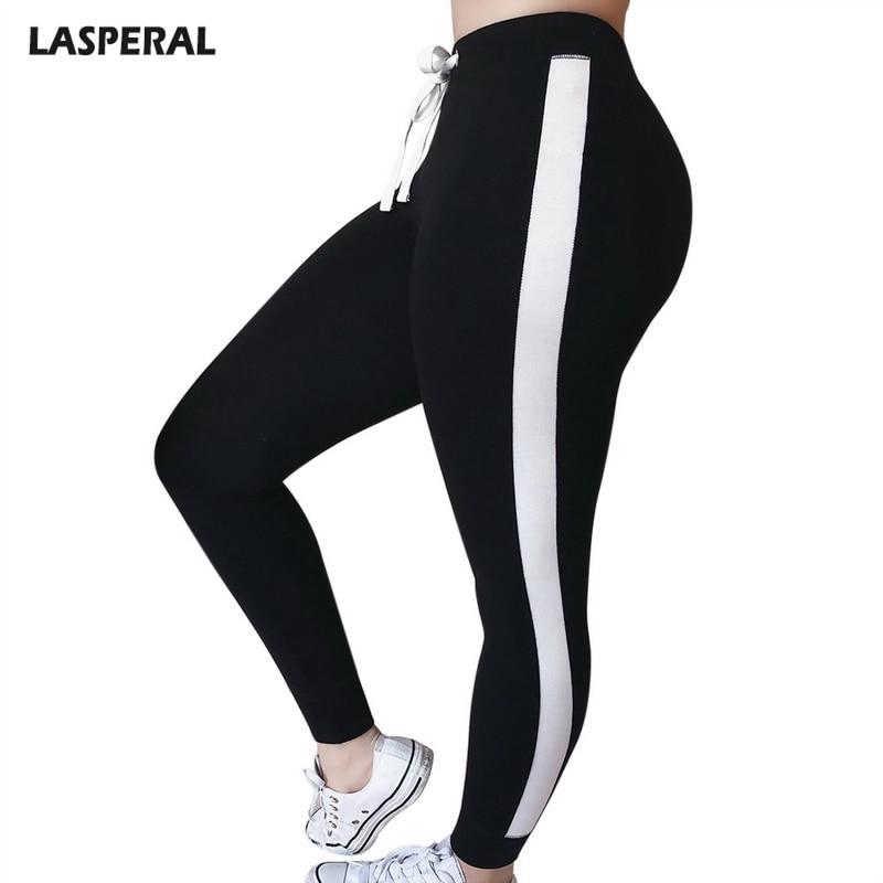 LASPERAL High Waist Women Pants Fashion Skinny Pants Ribbed Knit Striped Sideseam Sweatpants Fitness   Legging   2019 New