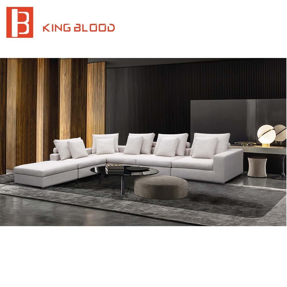 Dubai New Living Room L Shaped Corner Sofa Set Couch Designs Fabric Foshan