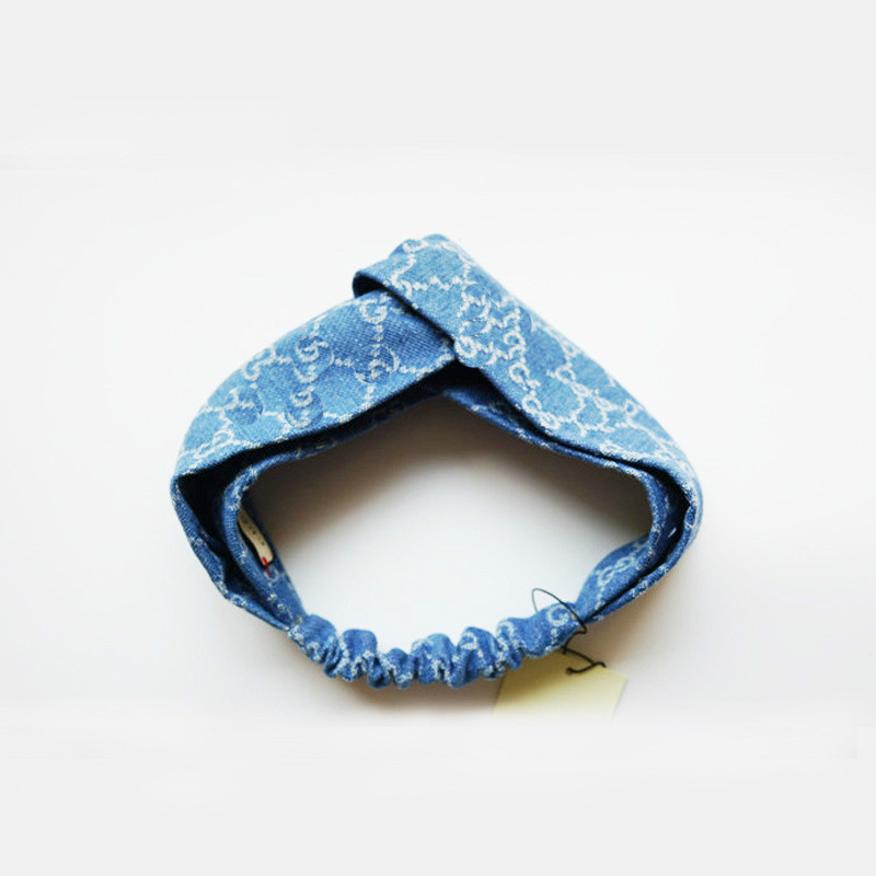 Bohemian Headwrap Boho Elastisk tjej Huvudband Blue Stretch Headband - Kläder tillbehör - Foto 3