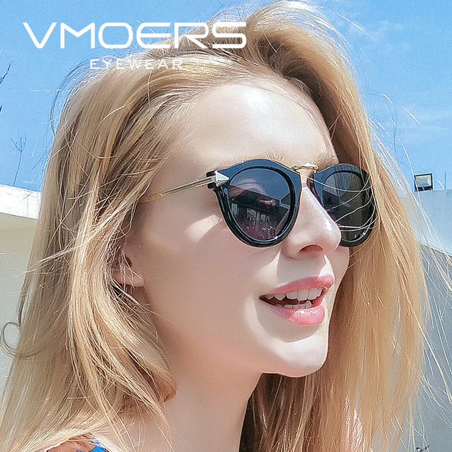 0a6e30128d VMOERS Arrow Round Women Sunglasses Polarized Retro Shades Oculos Female  Brand Designer Vintage Sun Glasses For Women 2018 New