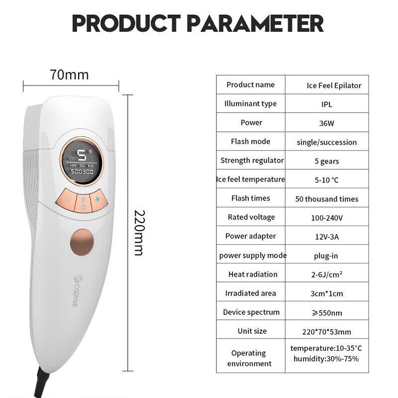 Image 4 - Новый IPL эпилятор для удаления волос, холодный ледяной эпилятор, перманентное лазерное удаление волос, домашний Триммер бикини, Электрический фотоомоложение, депиляторЭпиляторы    АлиЭкспресс