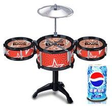 Kinder Klassische Jazz Drum Set Schlaginstrument Musical Spielzeug Puzzle Frühen Lernspielzeug Für Kinder Juguetes Geschenke TC0002