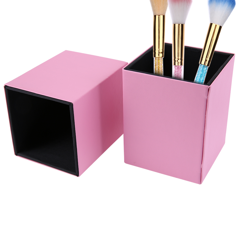 Makeup Brushes Holder Magnetic Brush Pen Holder Cosmetic Tool Organizer Empty Portable PU Leather Container(no Makeup Brushes) best price mgehr1212 2 slot cutter external grooving tool holder turning tool no insert hot sale brand new
