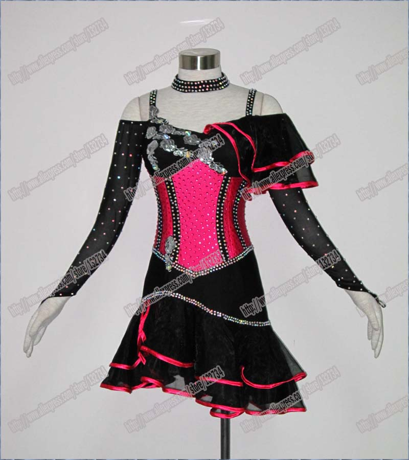 Women Latin Dance Wear,Girls Salsa Competition Dress Ladys Tango Samba Rumba Chacha Dance Dress,Dance Dress Latin L-0048